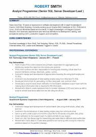 Unix Developer Resume Analyst Programmer Resume Samples Qwikresume