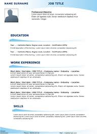 Example Of Resume Title by Free Sample Resume Original Resume 27 Examples Of Resumes