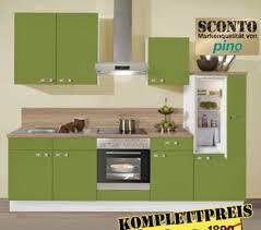 sconto küche pino küchenzeile front grün korpus weiß sconto sb ansehen