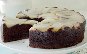 upside down pear and chocolate cake recipe food to love