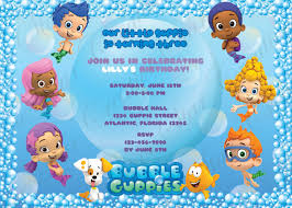 bubble guppies printable invitations ideas 83 best bubble