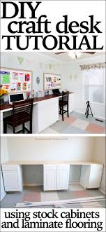Diy Craft Desk With Storage Craft Room Desk Tutorial How To Nest For Less