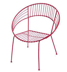 Red Metal Chair Round Metal Chair In Red Decor By Color