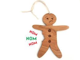 gingerbread man christmas ornament u2014 havok designs