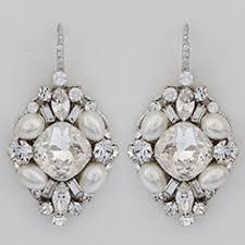 drop bridal earrings haute ec917 oval drop bridal earrings pearl
