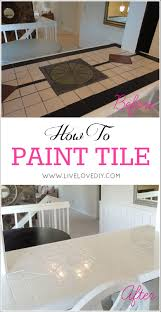 Hand Painted Tiles For Kitchen Backsplash How To Easily Paint Outdated Tile In Only 2 Steps Amazing Results
