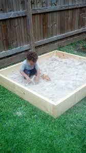 Backyard Sandbox Ideas Diy Sandbox Sandbox Backyard And Yards