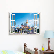 compare prices on window mural wallpaper online shopping buy low cartoon 3d window city scenery living room wall background removable wall stickers art decals mural wallpaper
