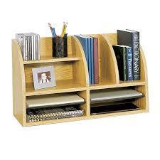 Wooden Desk Organizers 110 Wood Desktop Organizer 8 Adjustable Compartments Ctl Tech