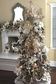 fantastic white and silver tree ornaments blue and