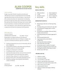 administrative assistant resume template resume templates administrative assistant executive resume template