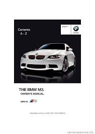 bmw m3 coupe 2013 e92 owner u0027s manual