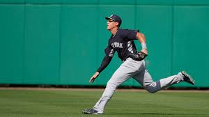 Aaron Judge Made His Mlb Debut In Center Field - aaron judge ranks eighth on mlb com s list of the top ten outfield