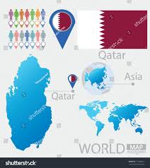 Asia World Map by Qatar Flag Asia World Map Vector Stock Vector 151848212 Shutterstock