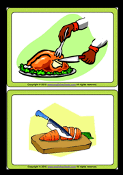 cooking verbs esl printable flashcards and game cards