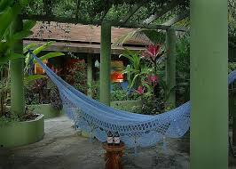 the private pergola with it u0027s couples hammock is just one of the