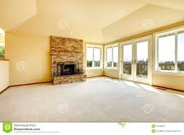 Livingroom Fireplace by Empty Living Room With A Fireplace Stock Photo Image 38786801