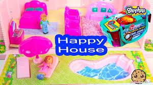 happy house playset with backyard swimming pool shopkins season