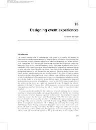 reflecting on the design of event experiences