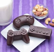 controllers and chocolate molds