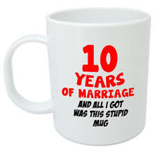 10th wedding anniversary 10 years of marriage mug 10th wedding anniversary gifts for women