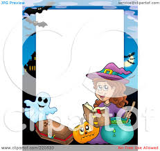 Royalty Free Rf Clipart Illustration Of A Halloween Frame Of A