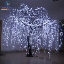 china lighted willow tree real look trunk led indoor out door