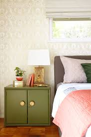 Before And After Bedroom Makeovers - before and after bedroom makeover with moss and coral accents
