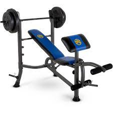 marcy standard bench w 80lb weight set mwb 36780b walmart com