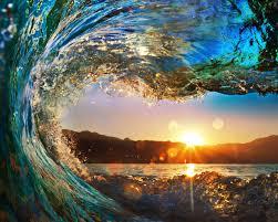 sunset sunset wave nature water beautiful macbook wallpaper hd 16
