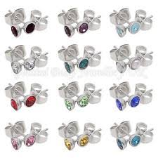 what is surgical steel earrings cubic zirconia surgical steel stud fashion earrings ebay