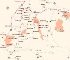 capitol reef national park map capitol reef capitol reef utah guide