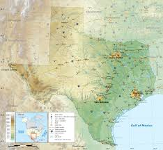 Italy Physical Map by Large Detailed Physical Map Of The State Of Texas With Roads