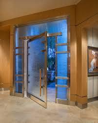Front Door Metal Decor Contemporary Glass Front Door Entry Asian With Woodwork Metal
