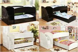 Merrick Low Bunk Bed WStairs Kids Furniture In Los Angeles - Low bunk beds