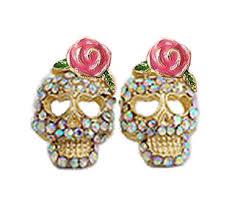 skull stud earrings betsey johnson skull stud earrings