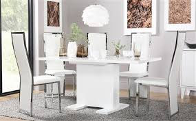 White Gloss Extendable Dining Table White Dining Sets Furniture Choice