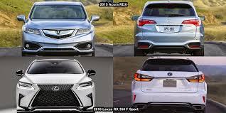 acura rdx vs lexus rx rdx vs rx350 2018 2019 car release and reviews
