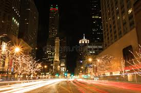 christmas lights in michigan holiday lights on michigan avenue editorial stock image image of