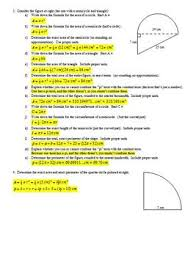 and perimeter problem solving worksheet with answer key editable