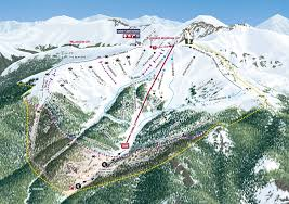 Keystone Colorado Map by Arapahoe Basin Ski U0026 Snowboard Area Trail Maps