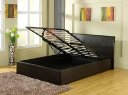 leather ottoman storage bed home design