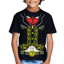 kids mexican mariachi charro halloween costume t shirt