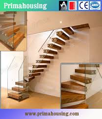 Wood Glass Stairs Design Popular Glass Railing Wood Steps Staircase Design Timber Staircase