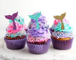 mermaid cupcakes mermaid cupcake etsy