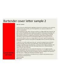 cover letter bartender examples professional resumes example online