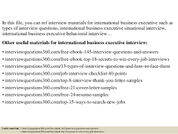 International Business Resume Sample by Top 10 International Business Executive Interview Questions And Answe U2026