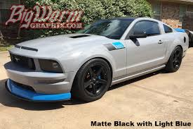 Matte Black 2005 Mustang 2005 09 Mustang 15 Style Fender Accent Stripes