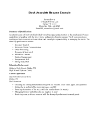examples of resume summaries resume summary no experience free resume example and writing resume examples no work experience stock associate resume summary
