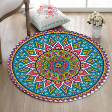 indian mandala hippie home bedroom zen carpet non slip bath rug Zen Bath Mat